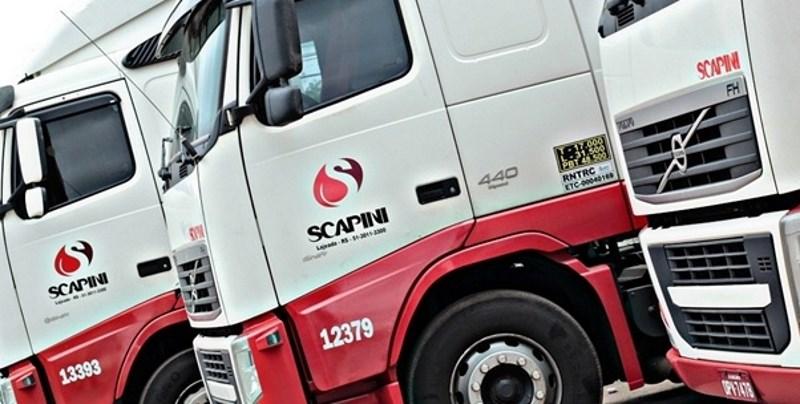 Transportadora Scapini inicia rota internacional e abre 100 vagas para motoristas carreteiros