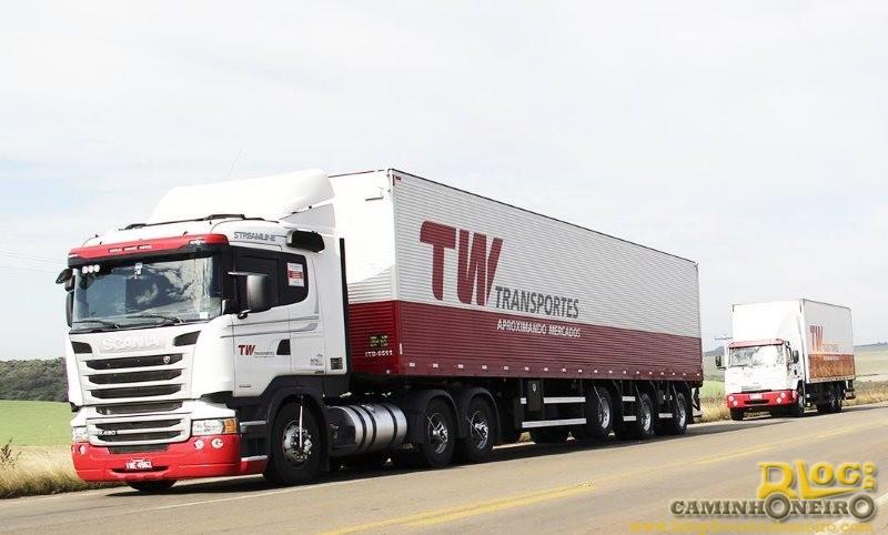 TW Transportes tem vagas para motoristas carreteiros