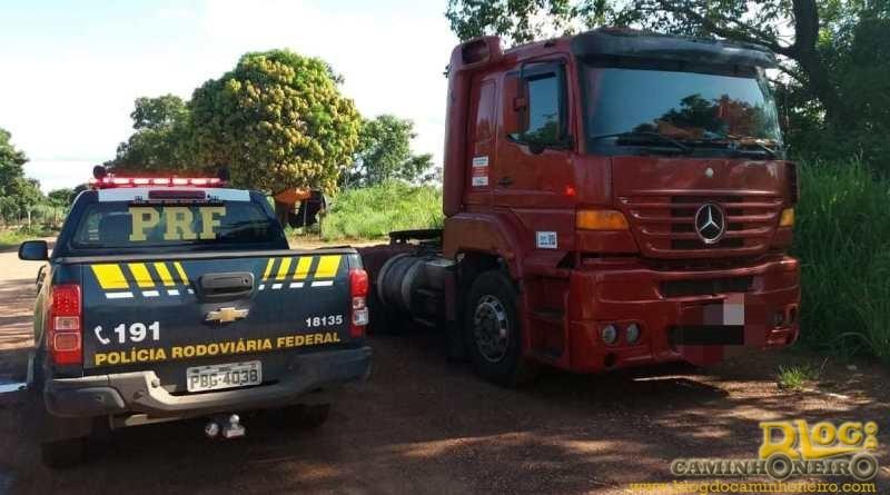 PRF prende envolvido em roubo de carga e recupera cavalo trator