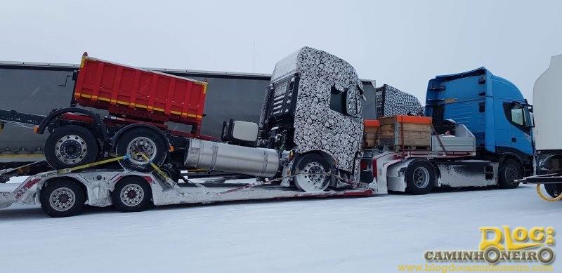 Novo caminhão Iveco é flagrado em testes na Europa