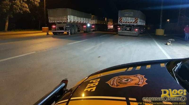 Motoristas de veículos portadores de AET são flagrados rodando à noite em MT