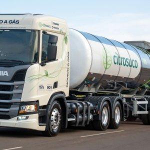 Caminhões a gás da Scania tem níveis elevados de segurança