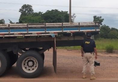 PRF flagra caminhão com suspensão irregular na BR-262/MS