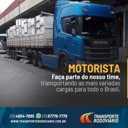 Transporte Rodoviário tem cargas disponíveis em São Paulo