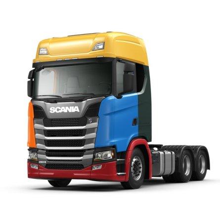 Configurador Scania permite pintar peças do caminhão separadamente