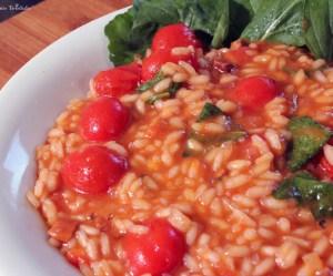 risoto de tomates