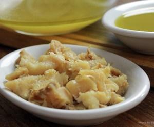 Bacalhau cozido no azeite