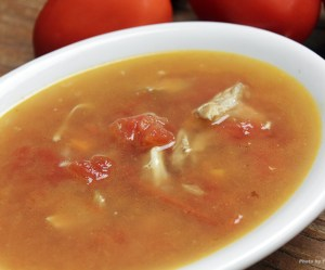 Molho de tomate com frango