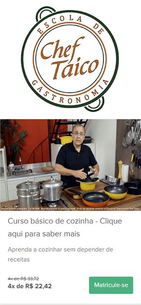 Curso básico de cozinha