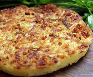 Batata crocante com bacon