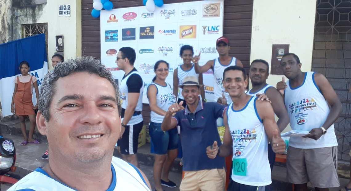 Pinheiro – Empresário Gean Freitas participa da sétima corrida dos pais master campinho