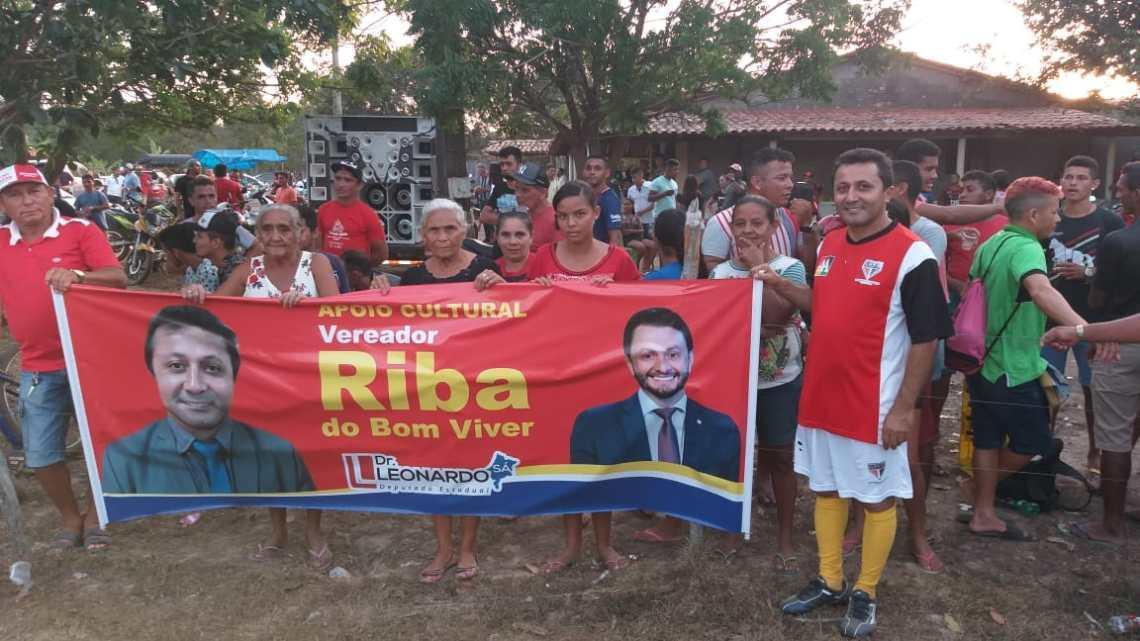 Pinheiro – Vereador Riba do Bom Viver arrasta multidão na final do campeonato de futebol do polo Campo Novo da Chapada