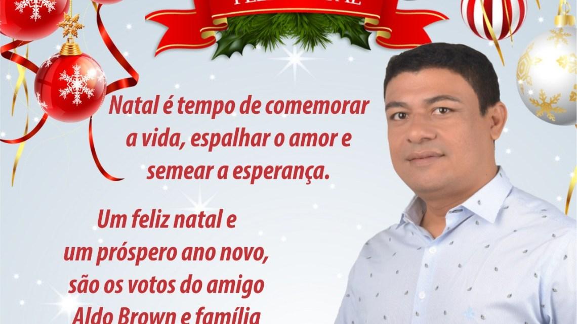 Pré-candidato a prefeito de Porto Rico do Maranhão Aldo Brown, lança mensagem de natal e ano novo a todos os munícipes