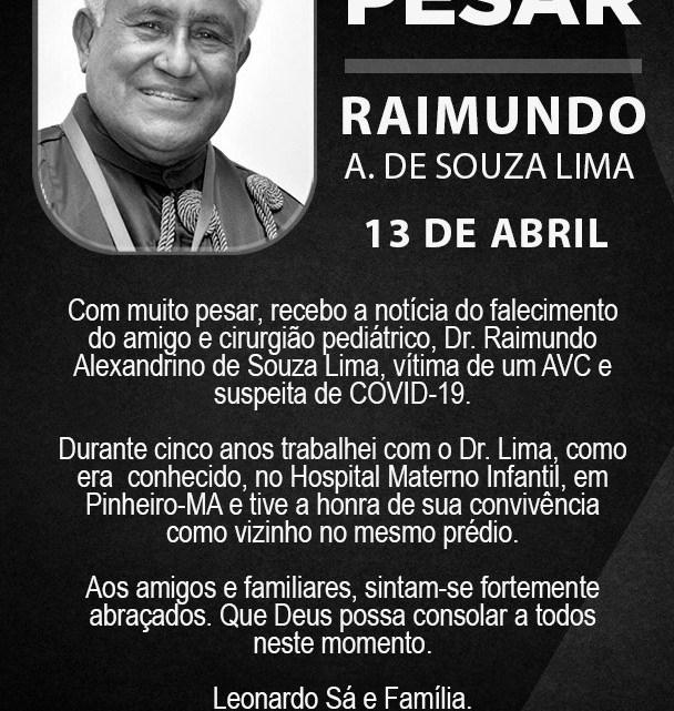 Leonardo Sá emite nota de pesar pelo falecimento do DR.Lima