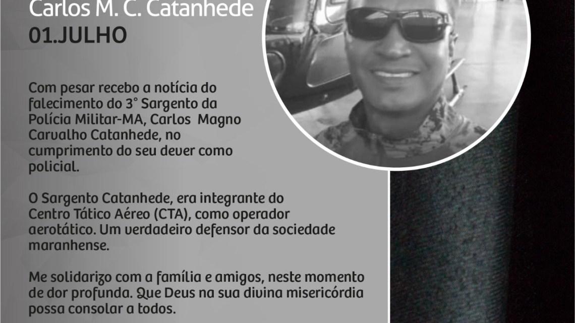 Deputado Dr Leonardo Sá emite nota de pesar pela morte do policial militar Carlos Catanhede