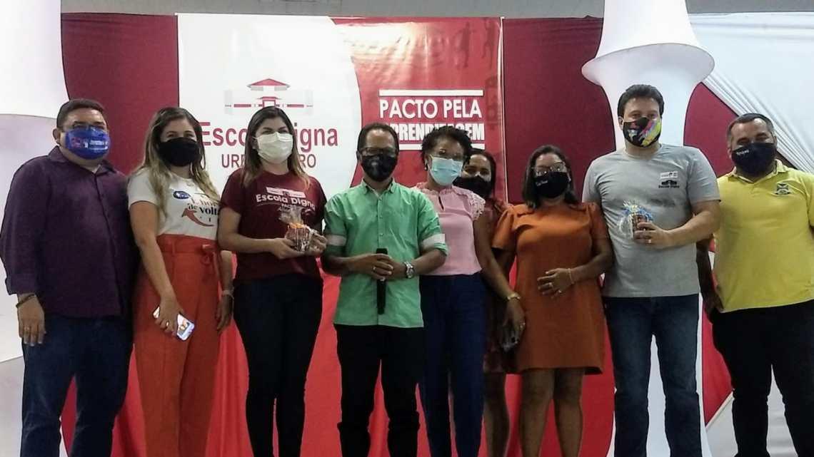Equipe da secretaria de Educação de Porto Rico do Maranhão, participa de audiência pública com o secretário de Estado da Educação Felipe Camarão