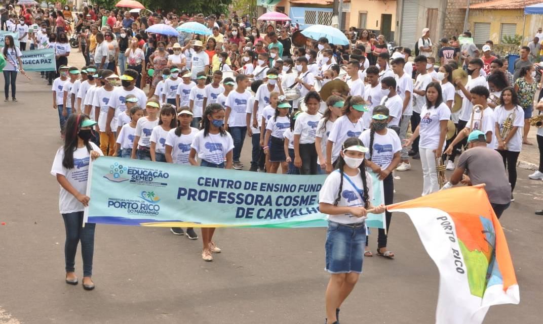 Estudantes de Porto Rico do Maranhão, homenageiam o dia da Pátria com grande e belo Desfile da Independência
