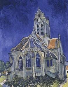 Van Gogh A igreja em Auvers-sur-Oise
