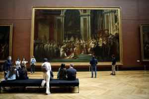 Louvre: Coroação de Napoleão depois do distanciamento
