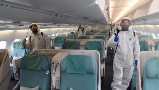 Limpeza em aviões