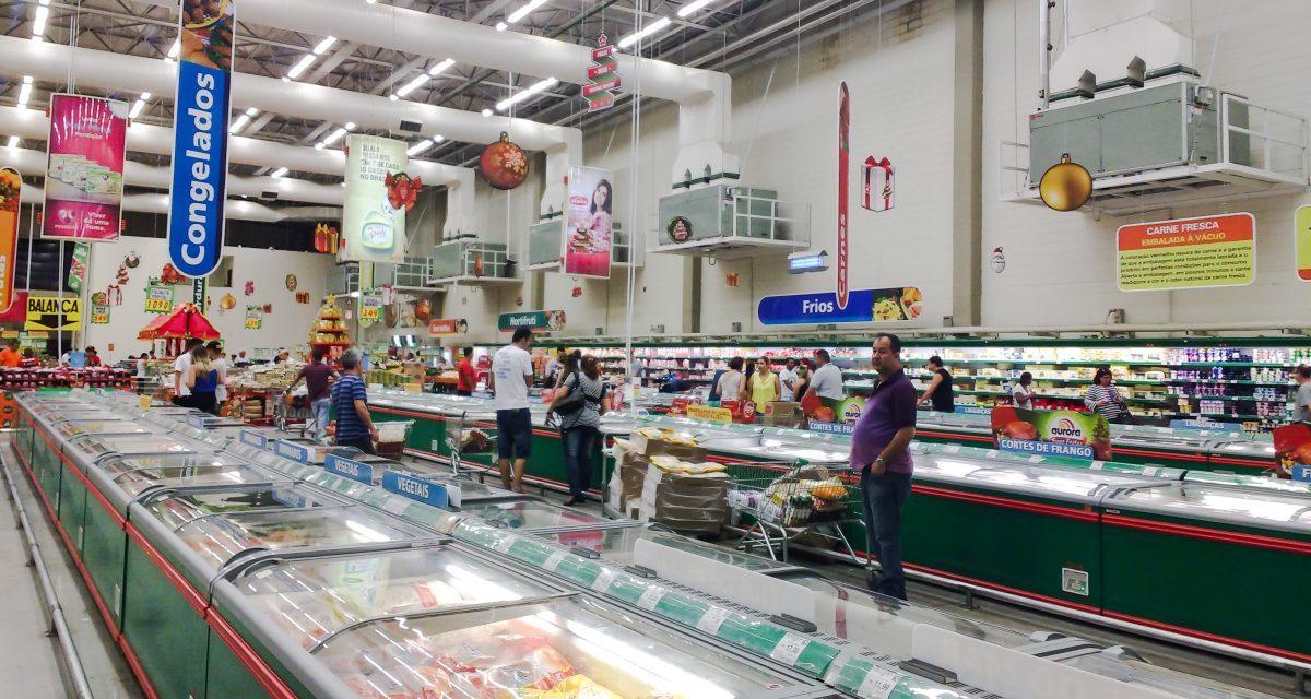 Vendas dos supermercados acumulam alta de 1,16% no ano