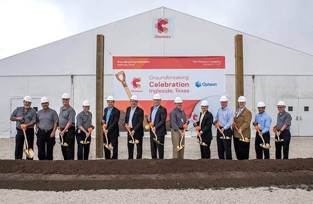 Chemours inicia construção de fábrica de R-1234yf
