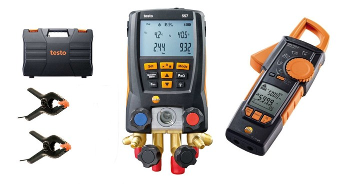 Ferramentas Testo - Manifold e Alicate Amperímetro