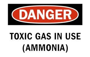 Alerta de risco de acidente com amônia