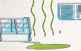 Vazamento de fluido refrigerante R-22