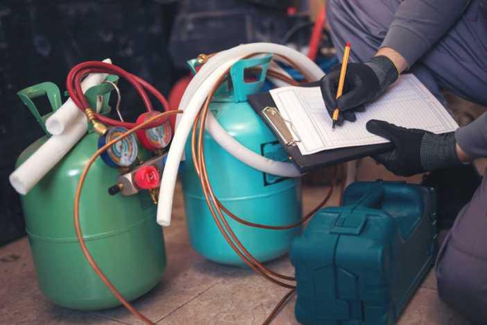 alta do gás refrigerante