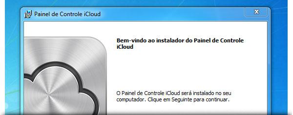 Painel de Controle iCloud