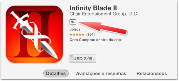 Indicação de idade na App Store