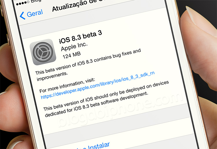 beta iOS 8.3