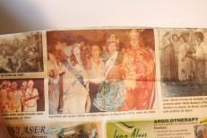 Foto em matéria de jornal sobre o reinado de 2008