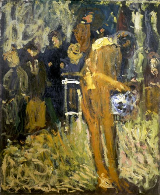 Richard Gerstl, Akt Im Garten, Gmunden, 1908