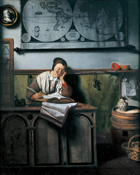 Nicolaes_Maes_-_The_Account_Keeper