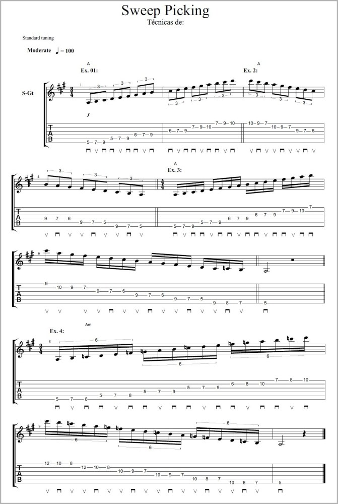Técnicas - Guitarra (5/6)