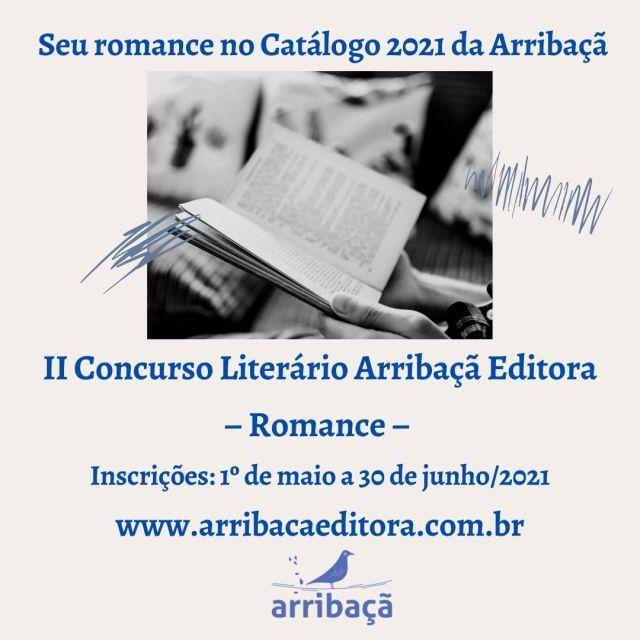 Arribaçã lança Concurso de Romance. Inscrições vão até o dia 30 de junho