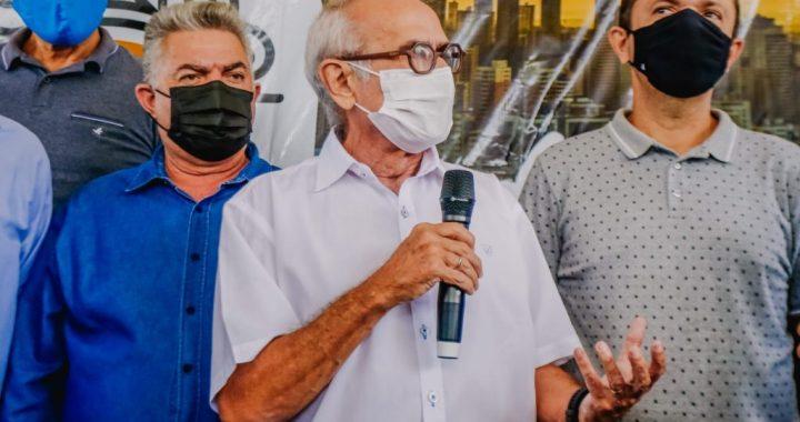 """NO VALENTINA – Cícero Lucena não deixa Marmuth falar e é """"constrangido"""" durante anúncio da retomada de obras do Terminal de Integração"""