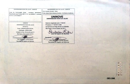 Diploma do Paulnho (verso)