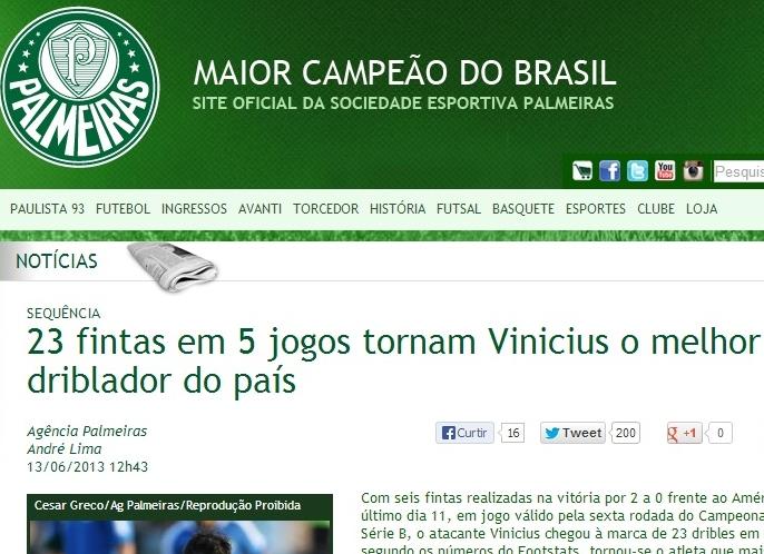 Departamento de Comunicação do Palmeiras se supera na arte do ... 8b4466d1f6f50