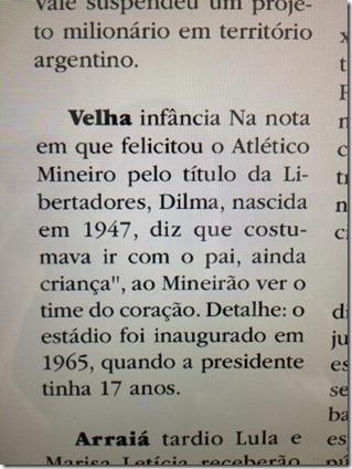 Dilma mentira