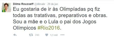 dilma twitter olimpíadas