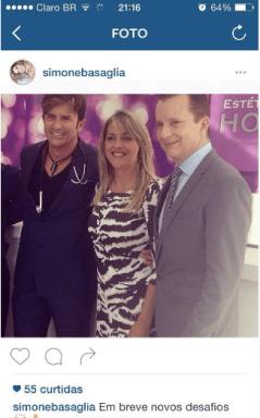 Russomanno com o Doutor Rey na inauguração de uma franquia de sua clínica