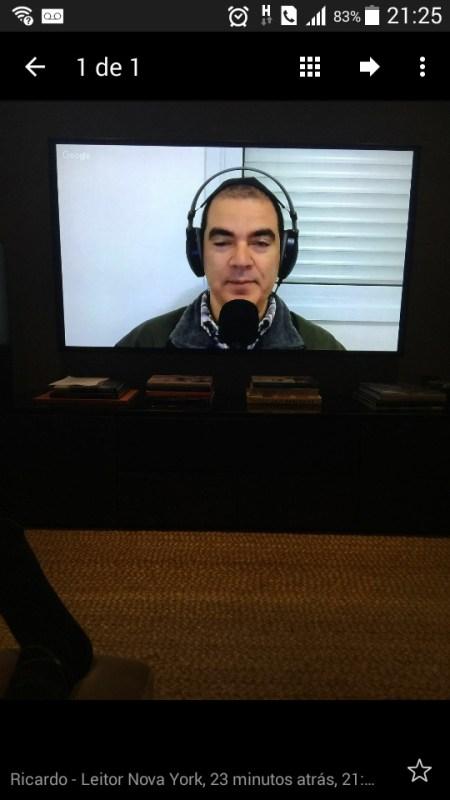 Blog do Paulinho, ao vivo, enviado por um telespectador de Nova York