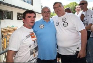 """Andres Sanches, Roberto """"da Nova"""" Andrade e Mario Gobbi"""