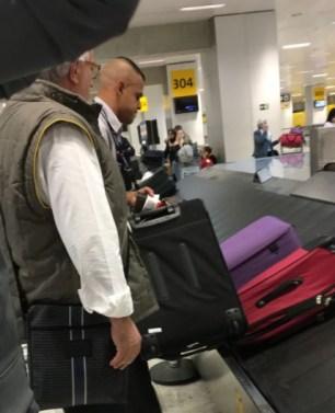 Roberto Andrade, em Cumbica, retornando dos EUA
