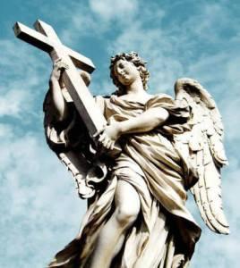 anjo e cruz