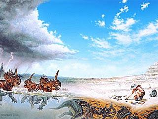 Tempestade (como o Dilúvio bíblico!) criou o maior cemitério de dinossauros já encontrado!