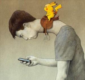 """A cada nova fase as crianças são levadas ainda mais fundo na aplicação prática de habilidades do ocultismo e no conhecimento de estratégias psicológicas que as conduzem a um mundo de experiências espíritas. Arms conclui que """"há uma ênfase inegável em ensinar as crianças a lutar, matar, envenenar e usar poderes ocultistas e psíquicos para atingir suas metas. Além disso, o mundo Pokémon está ensinando às crianças que a evolução, os poderes sobrenaturais e a violência são conceitos perfeitamente aceitáveis"""". Evolução e espiritualismo. Essa é a essência do conteúdo ideológico de Pokémon. Trata-se de um game gratuito de realidade aumentada para Android e iOS. E pode ser difícil prestar atenção no que acontece ao redor enquanto se concentra na tela do celular. Diversos jogadores relataram que se machucaram ao tropeçar enquanto estavam distraídos."""
